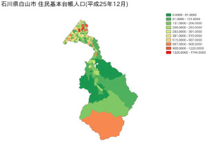 石川県白山市住民基本台帳人口(平成25年12月)