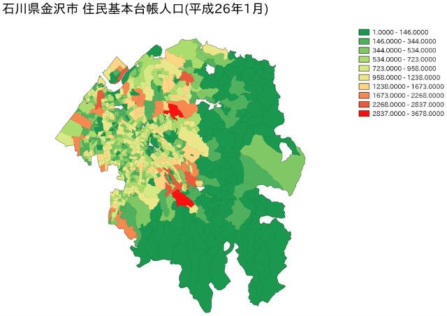 石川県金沢市 住民基本台帳人口(平成26年1月)