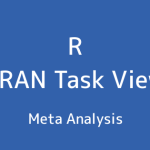 R言語 CRAN Task View:メタアナリシス