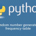 Python 度数分布表から乱数を生成する