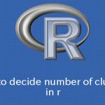R K-means法のクラスタ数を機械的に決定する方法