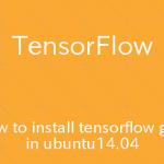 Ubuntu TensorFlowのGPU版をpipでインスールする手順