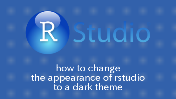 UbuntuでRStudioの外観をDarkに変更する方法