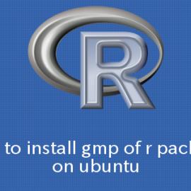 Ubuntu,R gmpパッケージをインストールする方法