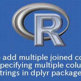 R dplyrパッケージで複数の列を文字列として指定し結合された列を追加する方法