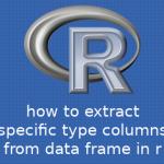 R データフレームから特定の型の列を抽出する方法