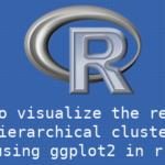 ggplot2を用いて階層的クラスタリングの結果を可視化する方法