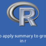 R group_byにsummaryを適用する方法